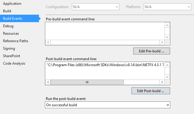 Visual Studio Push Dll to Gac on Build Succeded